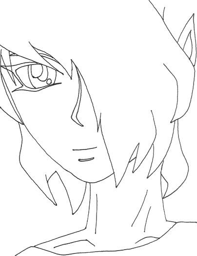 Random Guy 01 lineart by YamiKaosu