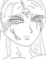 Random Guy 02 lineart by YamiKaosu