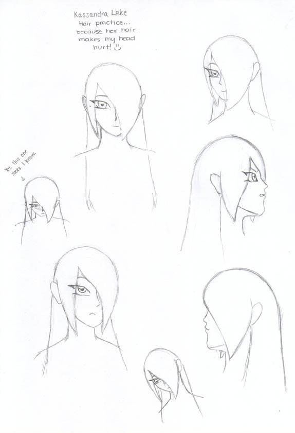 Kassandra Hair Practice by YamiKaosu