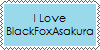 I Love BlackFoxAsakura stamp by DallellesLaul