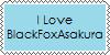 I Love BlackFoxAsakura stamp by DallellesLaul