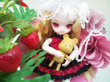 With strawberry by JinkiMania