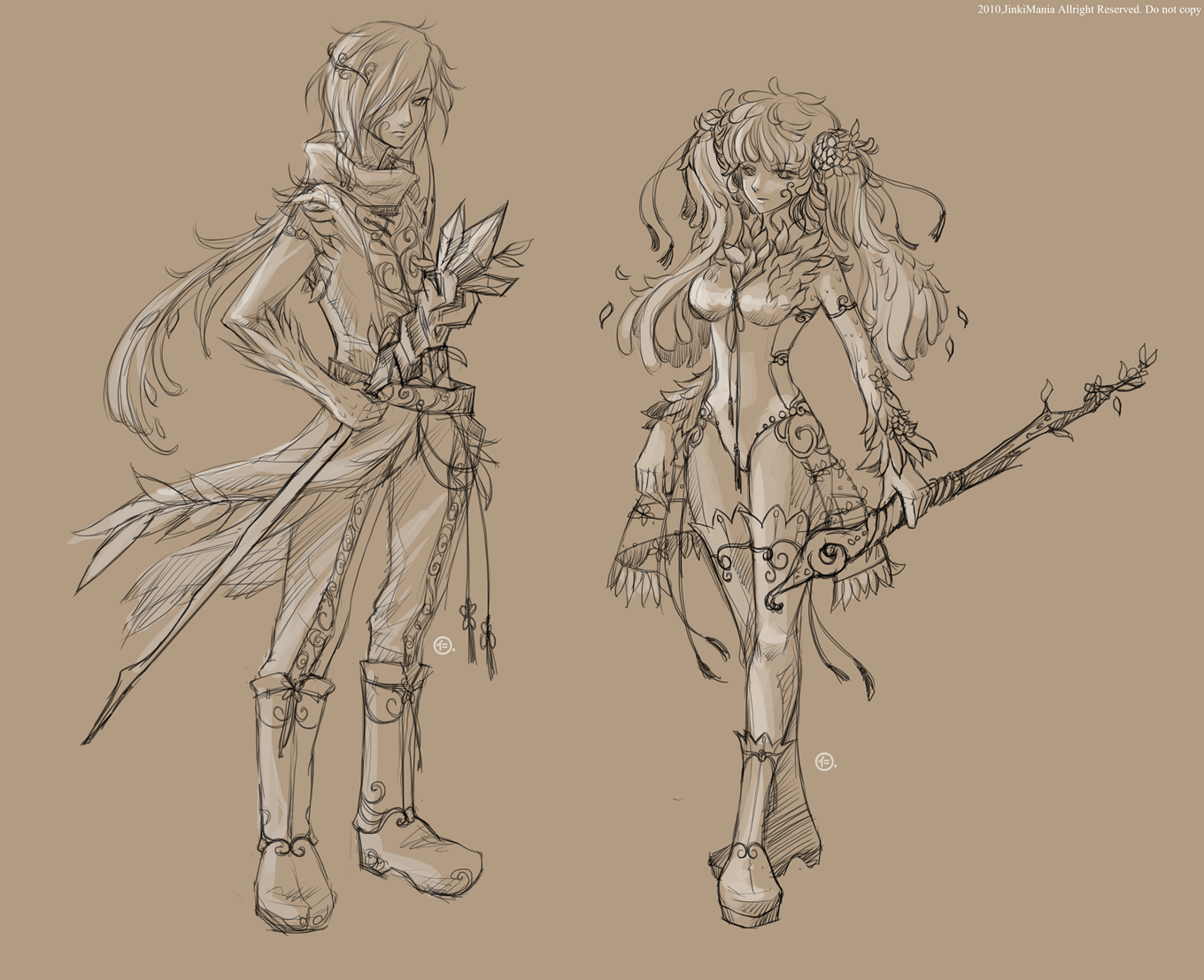 Character Concept Design Process : Character concept sketch by jinkimania on deviantart