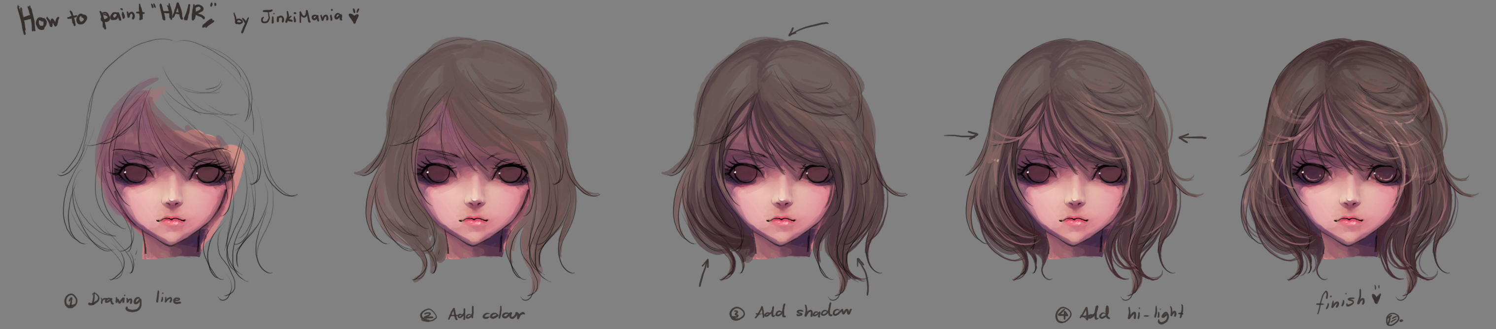 How To Paint Hair By Jinkimania On Deviantart