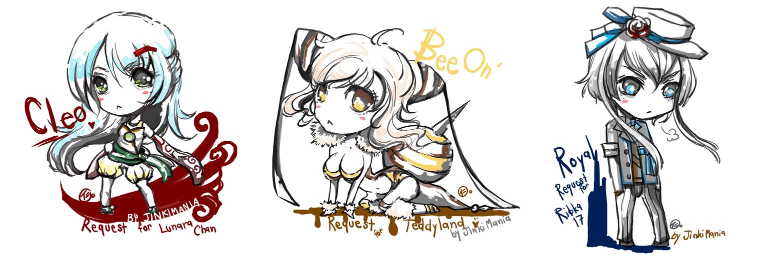 Chibi Request Set by JinkiMania