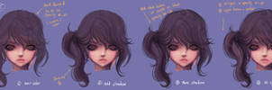 How to paint HAIR No.02