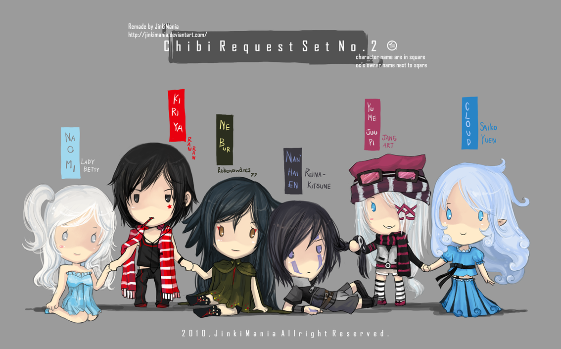 Chibi Request Set No2 by JinkiMania