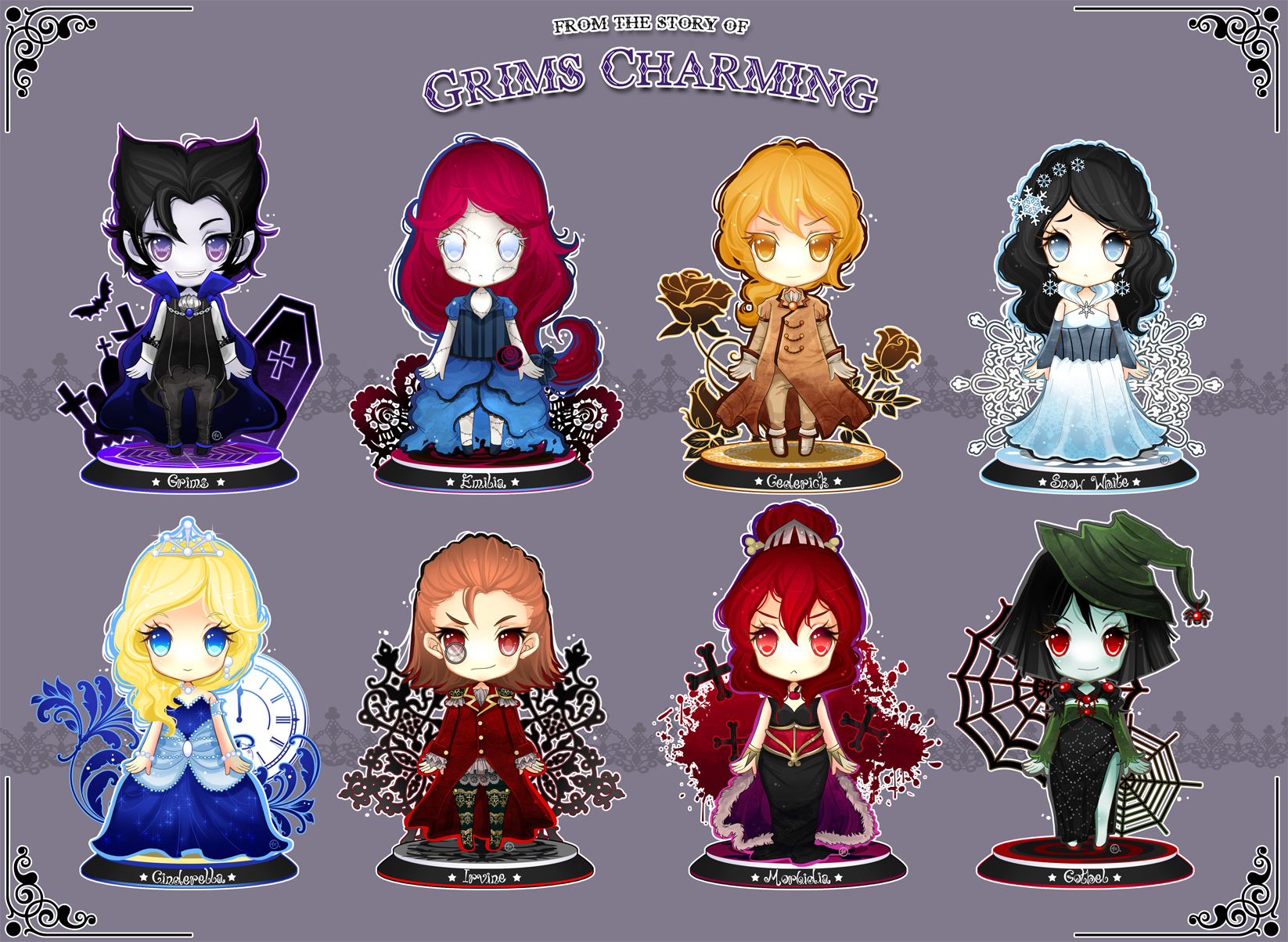 Chibi Set CharmingNightmare by JinkiMania