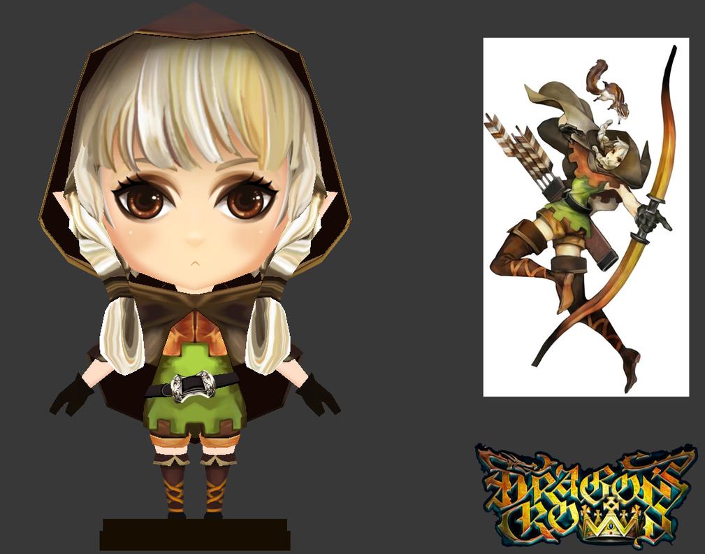 3D Low Polygon : Dragon's Crown ELF by JinkiMania