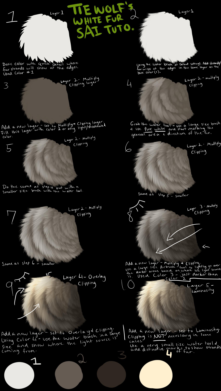Tiewolf's White Fur SAI Tutorial by TieWolf