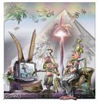 The obelisk tv. of Mr.Highness pharaoh (4000 B.C) by aladinsaad