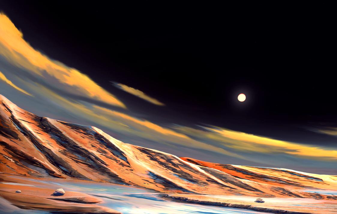 Moon scenery by Spoof-Ghost