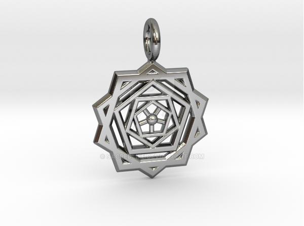 PENTAGON RIPPLES-Premium Silver by SacredLife