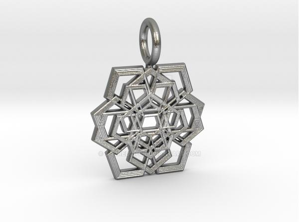 PENTAGRAM RIPPLES-Raw Silver by SacredLife