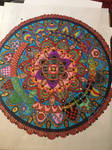 Zentangle circular zentangle inspired art