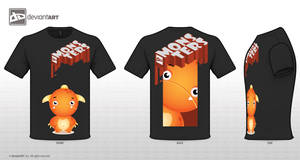 Orange Monster Black by bigbossface