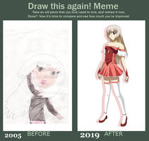 Before And After Meme (My art progress)