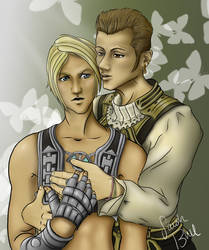 Balthier and Vaan by sarahblue