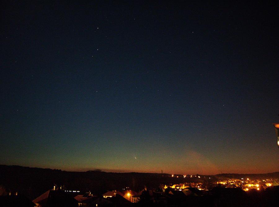 Comet PanSTARRS via my camera's viewfinder