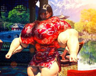 Oriental Muscle - Mei-Li by SarahSamsonMuscle