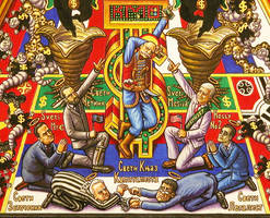 Iconostasis of Serbocapitalism-detail by alexander982