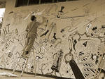 Mural- the work progress