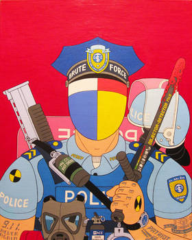 Enforcer- acrylic on canvas 2014