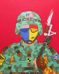 Dog of war- acrylic on canvas 2014