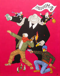 Rent-a-coup- acrylic on canvas 2014