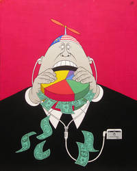 Mc Greed- acrylic on canvas 2014