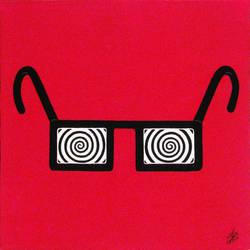 Glasses, acrylic on panel canvas, 20x30cm, 2015