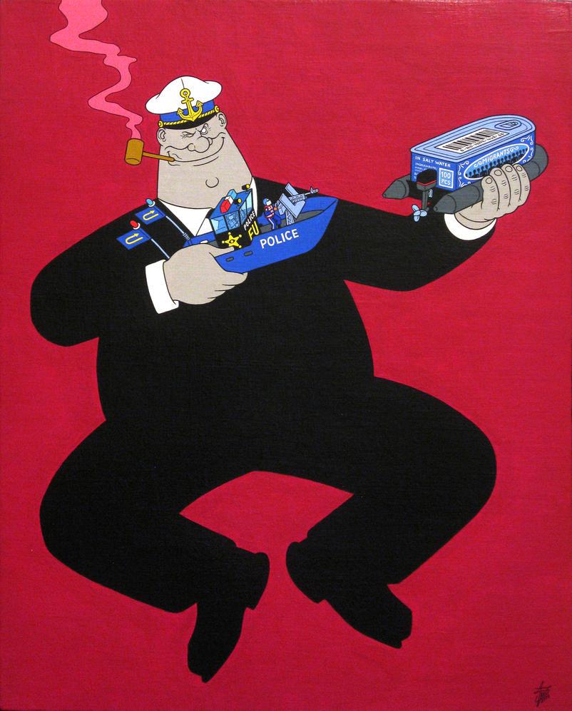 Protector, acrylic on panel canvas, 50x40cm, 2015 by alexander982