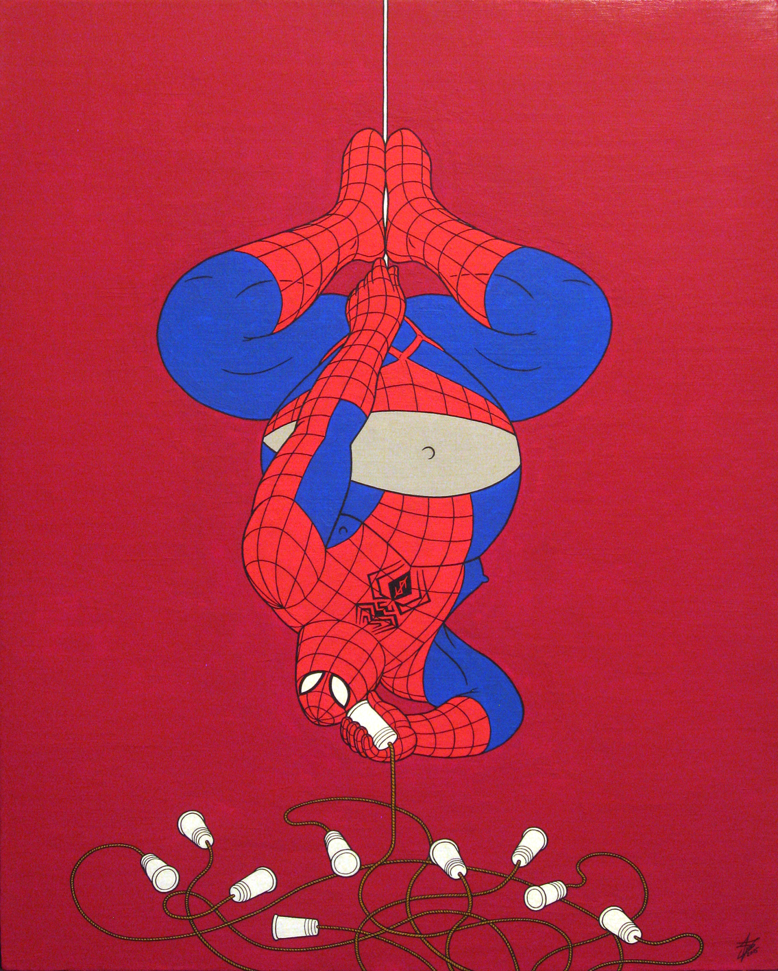 Wwweb-man, acrylic on panel canvas, 50x40cm, 2015 by alexander982