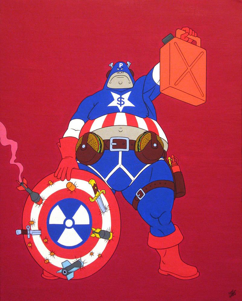 Captain Patriot, acrylic on canvas, 50x40cm, 2015 by alexander982
