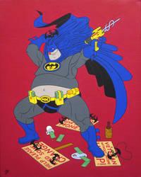 Night Knight, acrylic on canvas, 50x40cm, 2015