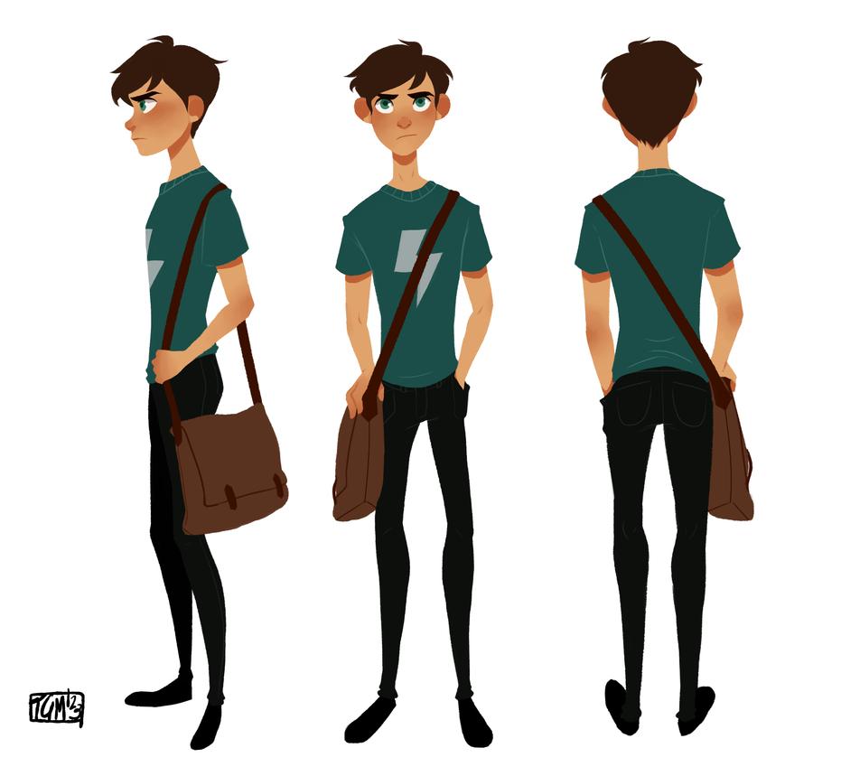 Character Design For Animation In Illustrator : Levi turn around by thegingermenace on deviantart
