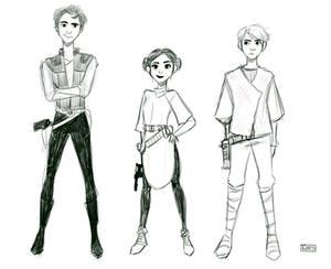 Original Trio (star wars teens AU)