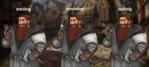 Halmir, elderly dwarf warrior