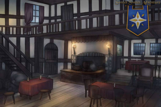 Tavern Interior during Evening