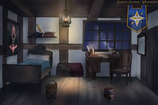 Tavern Room in the Evening