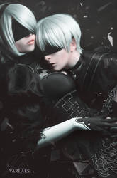 2B and 9S by NatheaX