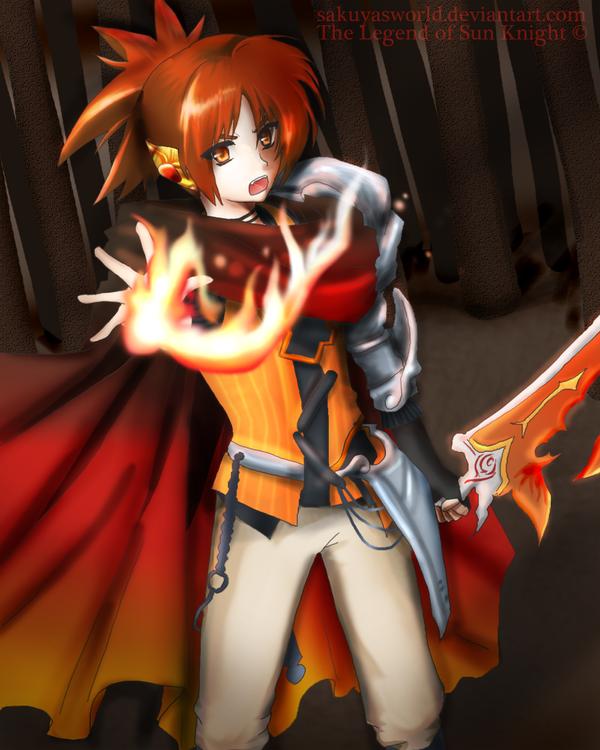 The Blaze Knight by sakuyasworld