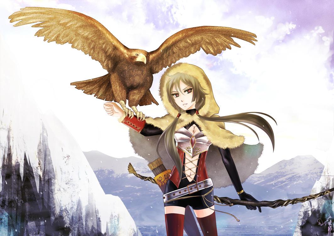 OC: Eagle huntress by sakuyasworld