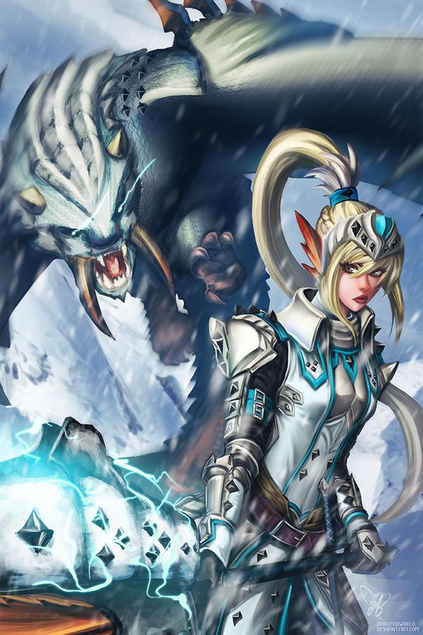 Anime Characters Monster Hunter World : Monster hunter barioth by sakuyasworld on deviantart