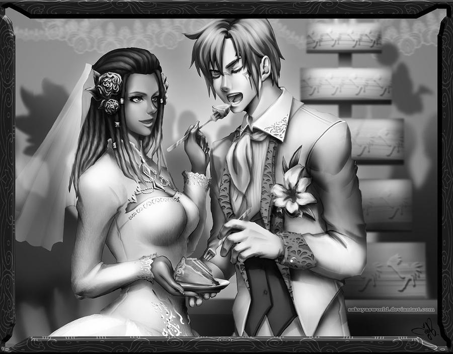 Comm: Sojiana and Kayllen by sakuyasworld