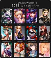 Sakuyasworld's 2015 Summary of Art Meme by sakuyasworld