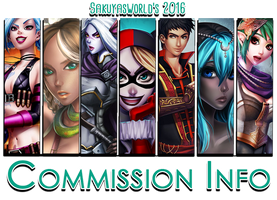 Commission Info 2016 by sakuyasworld