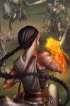 Elemental Monk DnD by sakuyasworld