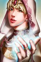 [BTS] Cleric Jin by sakuyasworld