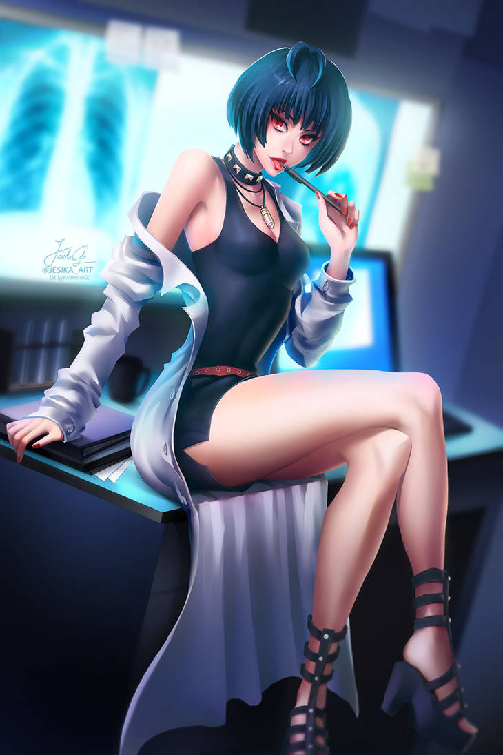 Persona5: Tae Takemi by sakuyasworld